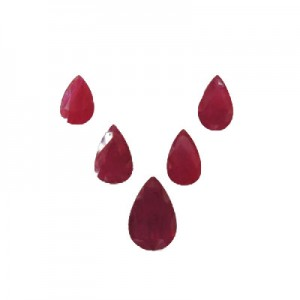 Ruby Pear Cut, 12.59cts / 5cs