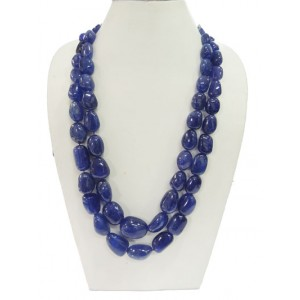 Tanzanite Tumble Plain Beads