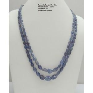 Tanzanite Tumble Plain Beads