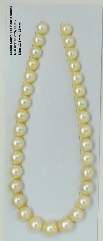 Cream South Sea Round Pearls