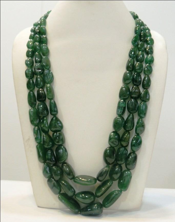 Emerald Tumble Plain Beads