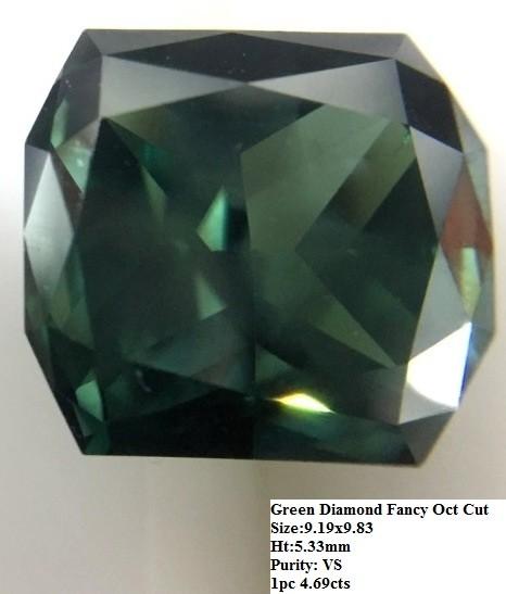 Green Diamond Fancy Cut