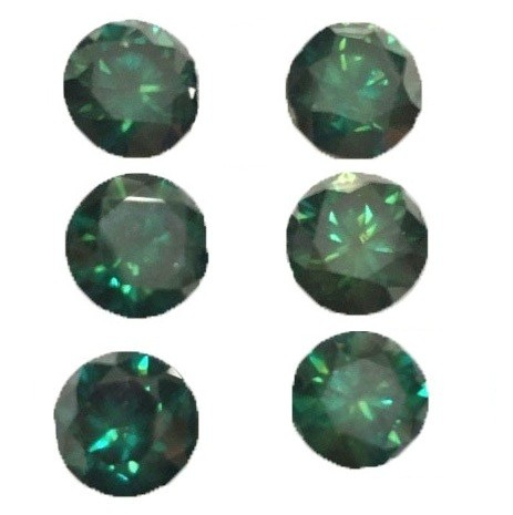 Green Diamond Round Cut