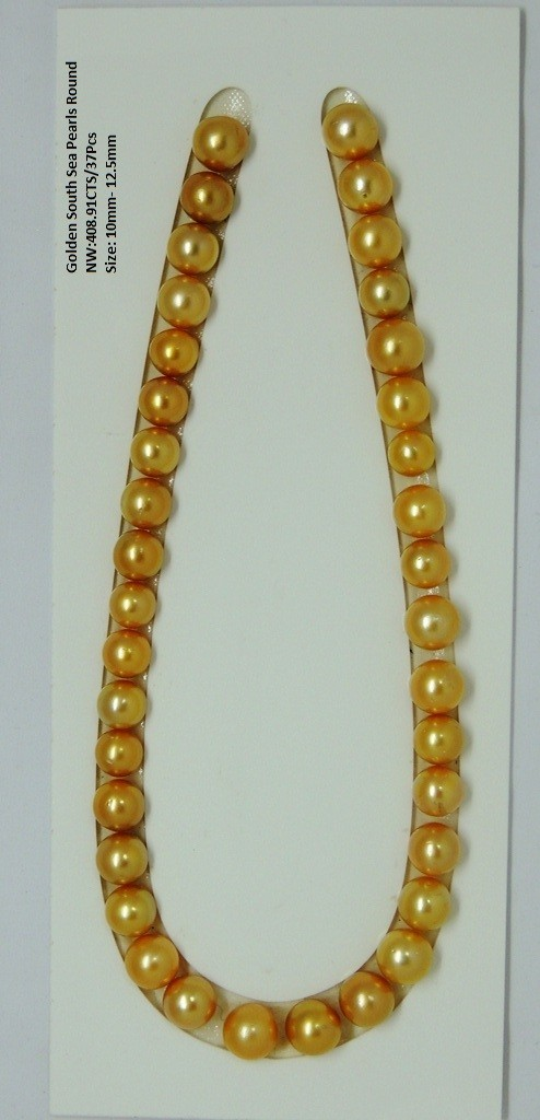 Golden South Sea Loose Round Pearls