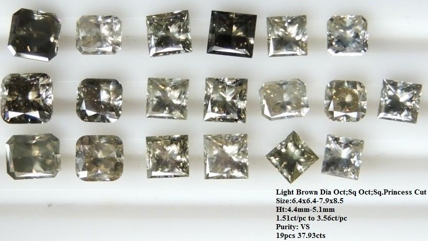Light Brown Diamond Square Cut