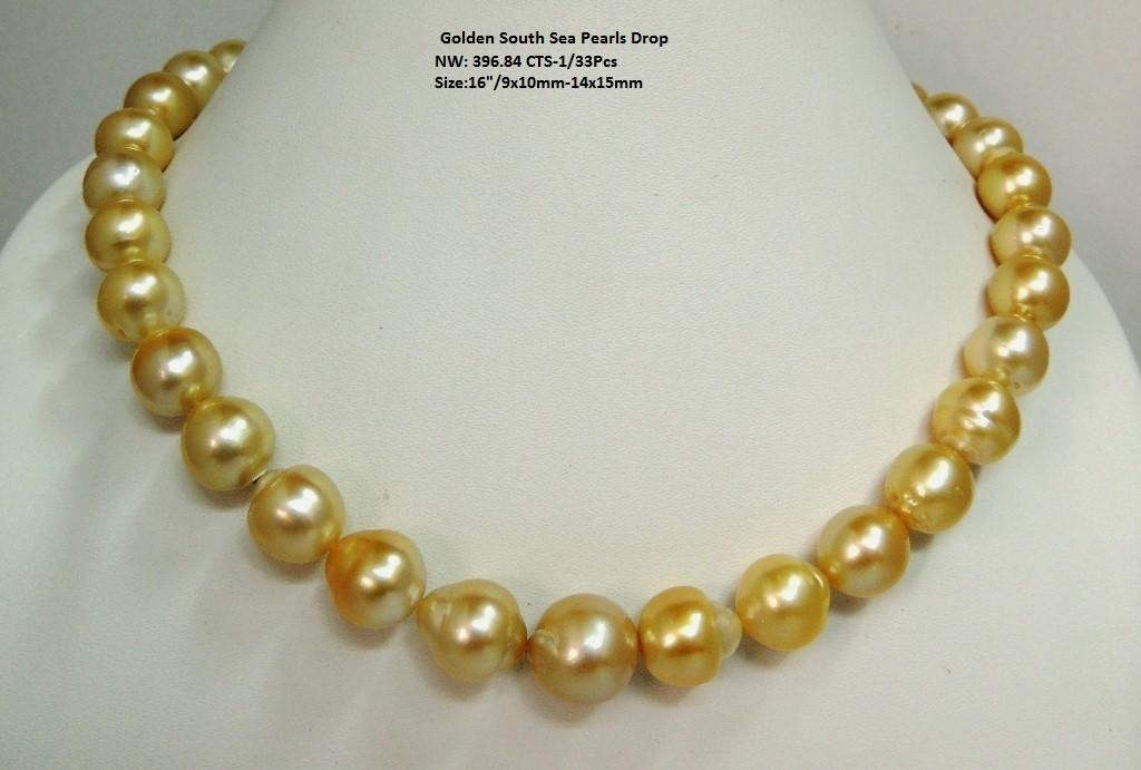 Light Golden South Sea Pearls Drop