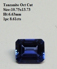 Natural Tanzanite Emerald Cut AAAA quality 8.61 cts