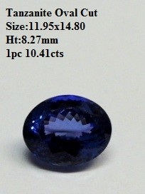 Natural Tanzanite Oval Cut AAAA quality 10.41 cts