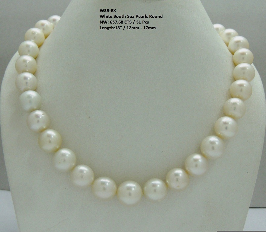 White South Sea Round Pearls