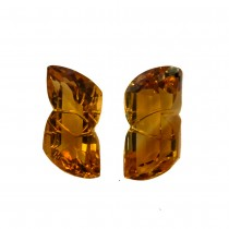 Citrine Fancy Cut, 36.45cts/2Pcs