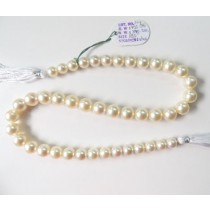 Cream South Sea Round Pearls Strands