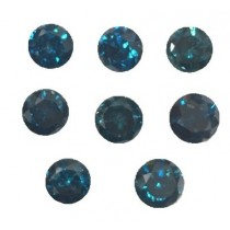 Blue Diamond Round Cut
