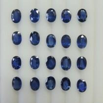 Blue Sapphire Oval Cut, 9.17cts/20Pcs