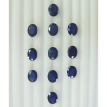 Blue Sapphire Oval Cut, 25.74cts/11Pcs
