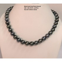 Black South Sea Round Pearls  Necklace