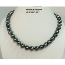 Black South Sea Round Necklace