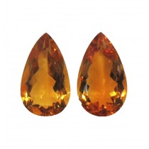 Citrine Pear Cut, 37.90cts/2Pcs