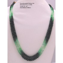 Emerald Shaded Button Faceted Beads