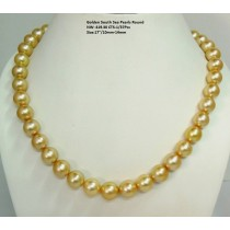 Golden South Sea Round Pearls Necklace
