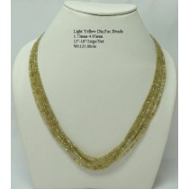 Light Yellow Diamond Faceted Beads