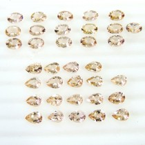 Morganite Oval & Pear Cut
