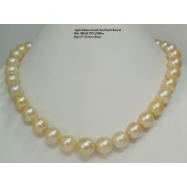 Light Golden South Sea Loose Round Pearls
