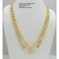 Multi Sapphire Tumble Plain Beads