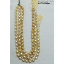 Light Golden South Sea Baroque Pearls