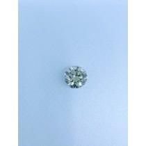 Off-White Round Diamond - 4.36 carats