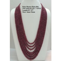 Ruby Button Plain Beads