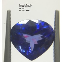 Tanzanite Pear Cut, 5.60cts