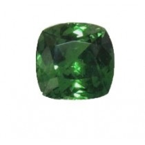 Tsavorite Square Cushion Cut