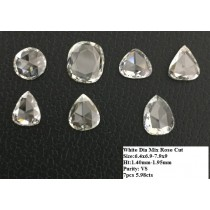 White Diamond Rose Cut