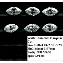 White Diamond Marquise Cut