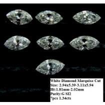 White Diamond Marquise Cut