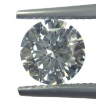 White Diamond Round Cut