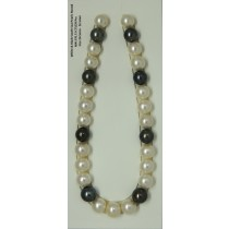 White & Black South Sea Pearls Round