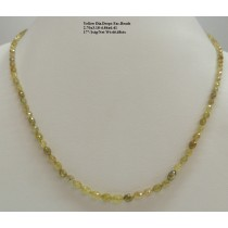 Yellow Diamond Drops Faceted Beads