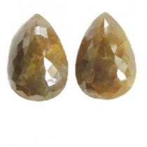 Yellow Diamond Pear Shape Rose Cut