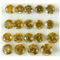 Yellow Diamond Round Cut