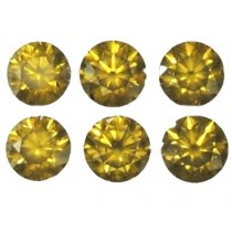 Yellow Diamond Round Cut