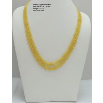 Yellow Sapphire Button Faceted Beads