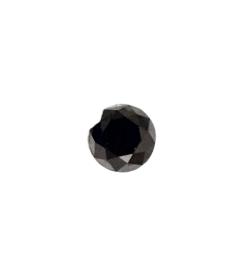 Black Round Diamond - 6.09 carats
