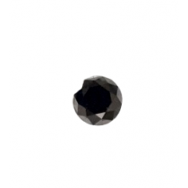 Black Round Diamond - 6.09 carats