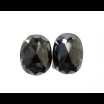 Black Oval Rose Cut Diamond - 3.09 carats