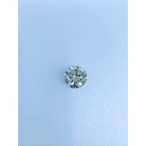 Off-White Round Diamond - 4.36 carats