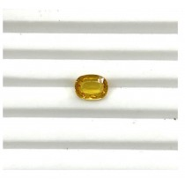 YS-4 Yellow Sapphire Oval cut with heated and treatment Gemstone - 2.53 cts